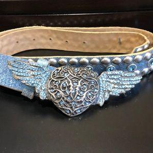 Leatherock studded belt size 34